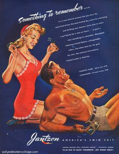 WWII Jantzen Swimsut Ad: great poster to have in the room
