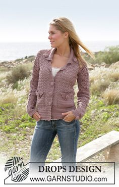 DROPS Crochet jacket (Size XS - XXL). Errata here: http://www.crochetmagazine.com/revisions.php?issue_date=2009-09-01#correction1