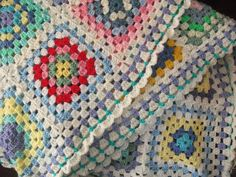 Crochet blanket by fishoseven, via Flickr