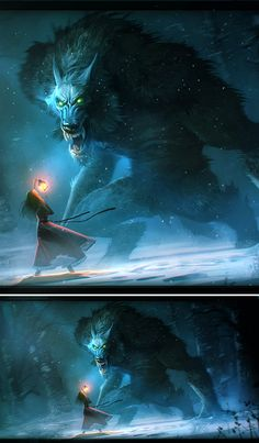 """""""Who's afraid of the big bad wolf"""" The Werewolf by ~Niconoff on deviantART Fantasy Creatures, Mythical Creatures, Dark Fantasy, Fantasy Art, Illustrations, Illustration Art, Werewolf Art, Vampires And Werewolves, Creepy"""