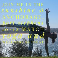 Still spaces left for this amazing weekend. More info www.bit.ly/2AnchorageRetreat or hello@heidihorne.com.au