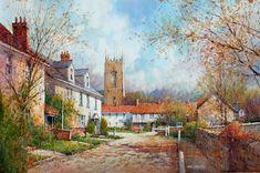 "ian ramsay watercolors | Ian Ramsay - Glouchestire Village, England - Watercolor - 14"" x 21"""