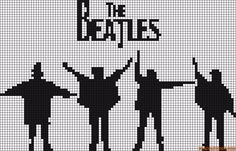 musique - music - beatles - point de croix - cross stitch - Blog : http://broderiemimie44.canalblog.com/