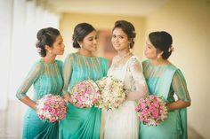 Christian Bridal Saree, Christian Bride, Bride Reception Dresses, Bridal Dresses, Wedding Bouquets, Wedding Gowns, Wedding Day, Bridesmaid Saree, Bridesmaids