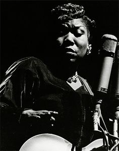 """1953 Sister Rosetta Tharpe performing in Paris, France...""""the original soul sister"""" and """"the godmother of rock and roll"""". She influenced early rock-and-roll musicians, including Little Richard, Johnny Cash, Chuck Berry, Elvis Presley and Jerry Lee Lewis."""