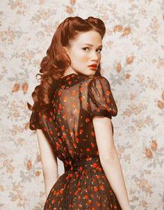 Image Via: Ulyana Sergeenko Vintage look. www.rockofeden.com Original, fine jewelry. Find beauty in all things.