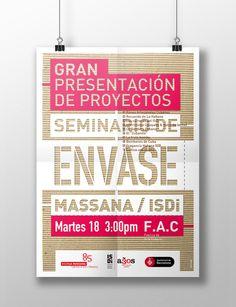 Diseño de Poster para el Seminario de Envase de la Escola Massana de Arte y Diseño de Barcelona celebrado en La Habana. #escolamassana #poster #packaging