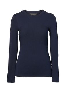 Banana Republic Womens Directional Rib Knit Crew