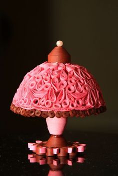 quilled lamp..