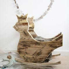 Bird rocking chair handmade by Jocelyn Costis