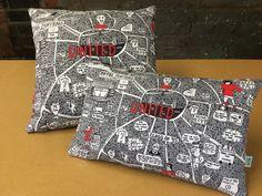 Doodle Map United Cushion