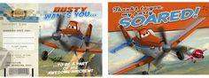 Disney Planes Invite & Thank You Postcards