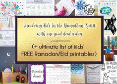 ultimate list of free Ramadan and eid printables for kids - involving kids in ramadhan spirit