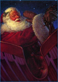 Image detail for -Scott Gustafson. The Night before Christmas.