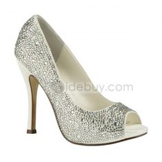 Top Quality Sparkling Glitter Upper Stiletto Heel Peep-toes Wedding/Prom Shoes