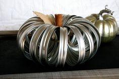 metal pumpkin mason jar pumpkin ball jar pumpkin jar lid. via Etsy.