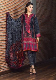 black winter shalwar kameez