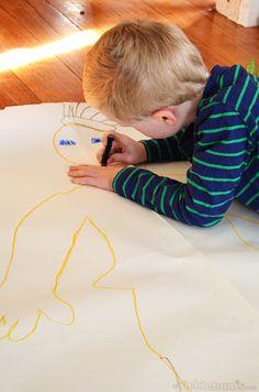 kid's self portrait - great activity