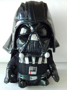 Darth Vader Stuffed Toy Shiny Pleather Plush Star Wars LucasFilm 7 Inch Clean