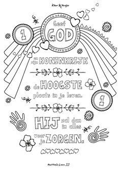 Kleurversje voor Imke Wijnhorst van Gezinsfundament: Mattheüs 6 vers 33