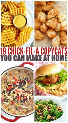 Check out these 19 Chick-Fil-A Copycat recipes that you can make right in your own home for way cheaper than visiting the drive through. food recipes 19 Chick-Fil-A Copycats You Can Make At Home Fast Healthy Meals, Easy Meals, Healthy Recipes, Healthy Options, Fast Foods, Easy Home Recipes, Healthy Food, Healthy Rice, Fast Dinner Recipes