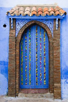 Door in Chefchaouen, Morocco.