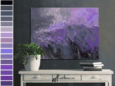 Abstract canvas wall art - Purple plum grey & black bedroom wall decor above bed, art over couch, or bathroom pictures - Large artwork #PurpleCanvasPrint #ArtAboveCouchSofa #BathroomPictures #ArtAboveBedOver #BedroomWallDecor #CanvasWallArtWork #LivingRoomPictures #PurpleGreyWallArt #AbstractPainting #BlackPlumArtWork