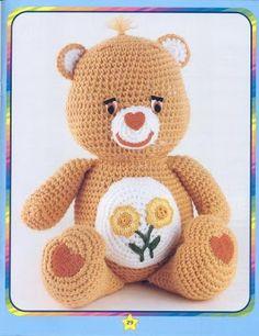 Croche da Moda : Ursinhos Carinhosos de crochê com receita
