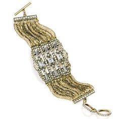 that Deco is as cool as ever! With an intricate geometric Deco design and mixed-metal chains that wrap around the wrist, this piece whispers of another era.While supplies last. Jewelry Crafts, Jewelry Bracelets, Avon Fashion, Fashion Accessories, Fashion Jewelry, Diamonds And Gold, I Love Jewelry, Metal Chain, Bling