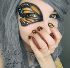 Monarch Butterfly Makeup.