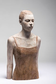 Wood sculpture by @Bruno Palena Walpoth -Chiara - cm. 75 - 2011