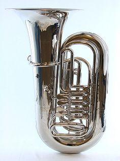 }mine{ (Schiller American Heritage 4 Valve Rotary Nickel Tuba)