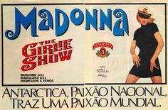 Propaganda do show da Madonna em 1993 patrocinado pela Cerveja Antartica.