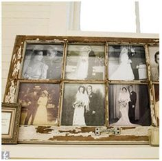love using old rustic pieces like this