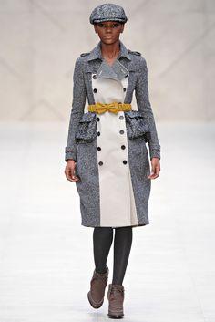 """Burberry Prorsum london w/2012-13 -  pour avoir un look """"en bouteille Perrier"""" ...."""