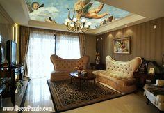 Art Ceiling Murals, Unique Ceiling Design Ideas For Living Room Largest  Album Of The Best