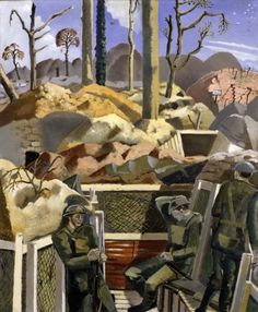 Paul Nash (British, 1889-1946), Spring in the Trenches, Ridge Wood, 1917, 1918. Oil on canvas, 60.9 x 50.8 cm.