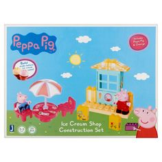 Peppa Pig Ice Cream Shop Construction Set 2-5 Yrs, 24 count, Multicolor