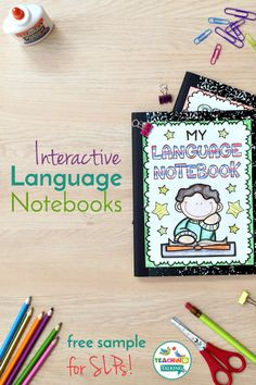 Get your free sample of my Interactive Language Notebooks for SLPs. Your students master their goals while building a project to be proud of!