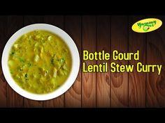 Preparing of Anapakaya Pesarapappu Kootu Kura  (Bottle Gourd Lentil Stew Curry)