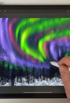 Digital Painting Tutorials, Digital Art Tutorial, Inkscape Tutorials, Art Tutorials, Digital Art Beginner, Winter Magic, Art Drawings Sketches Simple, Ipad Art, Brush Sets