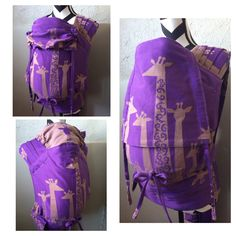 WCMT made from Natibaby Giraffes, converted by Mama Bird Carriers. Woven Wrap, Baby Carriers, Babywearing, Giraffes, Gym Bag, Crafts For Kids, Aesthetics, Crafty, Bird