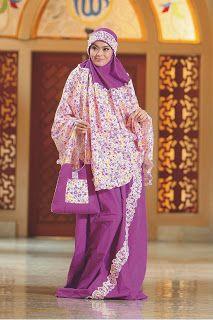 Mukena Aster - Bahan katun.Warna ungu, fanta dan putih - Dzakirah boutique - $25.00