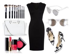 """""""Untitled #345"""" by oychanel ❤ liked on Polyvore featuring Chanel, Tildon, Karen Millen, Paul Andrew, MICHAEL Michael Kors and Shany"""
