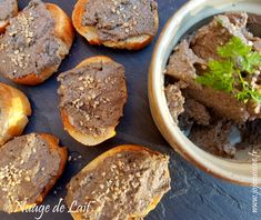 Tartinade de Champignons à la Muscade et Purée d'Amandes Almonds, Cloud, Milk, Recipe, Kitchens