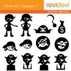 Pirate themed cliparts in silhouette.  These cliparts are great for teachers and educators for creating their school and classroom projects such as...
