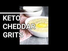 *KETO CHEDDAR GRITS* -- Buttery, rich, and thick...you NEED to try! - YouTube Keto Cauliflower, Best Side Dishes, Grits, Cheddar, The Creator, Breakfast, Easy, Youtube, Recipes