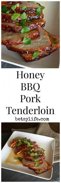 Honey BBQ Pork Tenderloin. A healthy and simple dinner recipe.