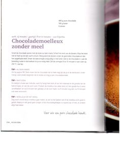 Chocolademoelleux zonder meel Pascale Naessens