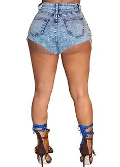 Snowflake Wash Denim Shorts With Chains_Denim Shorts Jeans_Women Jeans_Sexy Lingeire | Cheap Plus Size Lingerie At Wholesale Price | Feelovely.com